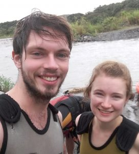 Ollie Randall and Sarah in Ecuador