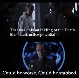 Rogue One could be stabbed