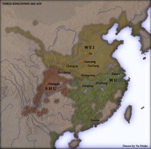 Three Kingdoms at the time of Jiang Wei