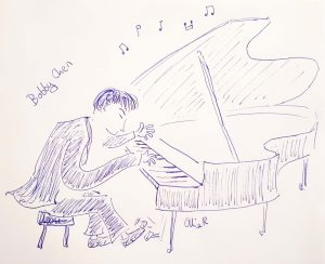 Bobby Chen on the piano