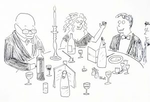 cartoons at events - dinner
