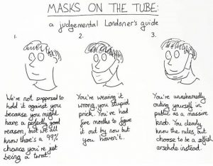 Masks on the tube